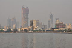 Mumbai skyline and waterfront, India Stock Photography
