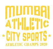Mumbai sport t-shirt design. College sport team style typography for poster, t-shirt or print Royalty Free Stock Photos