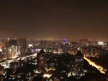 Mumbai-Stadt nachts lizenzfreie stockfotografie