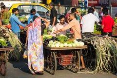 Mumbai Street Sellers royalty free stock photo