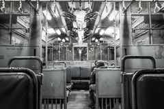 Mumbai Train inside. Inside of a Mumbai train like an inmate transport Stock Photos