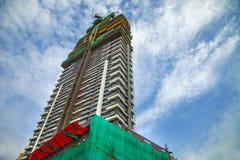 Mumbai, Uroczysta droga India, Września 22 2018 budynek, żuraw, - i budowa budynek duży budowa obraz royalty free