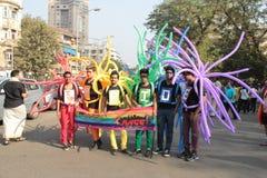 Mumbaitrots maart Stock Fotografie