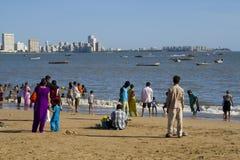mumbay strand Royaltyfri Fotografi