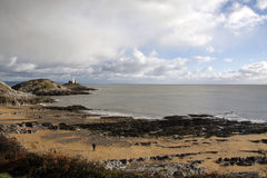 Mumbles Leuchtturm und Armband-Bucht Lizenzfreies Stockbild