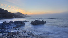 Mumbles Lighthouse. Swansea, Wales UK Royalty Free Stock Photo