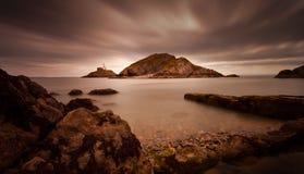 Mumbles lighthouse Swansea Bay Stock Photography