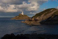 Mumbles lighthouse Swansea Bay Stock Photos