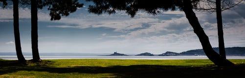 Mumbles lighthouse Swansea Bay Stock Image