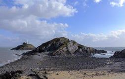 Mumbles Lighthouse , Swansea , Wales, UK Stock Images