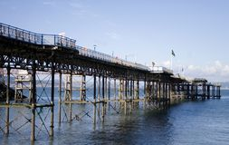 Mumbles Pier. Pier at the Mumbles beach in Swansea Stock Image