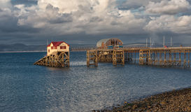 Mumbles pier and lifeboat station Stock Image