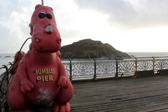 Mumbles Pier, Mumbles Stock Image