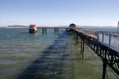 Mumbles pier and RNLI lifeboat station, Swansea royalty free stock photos