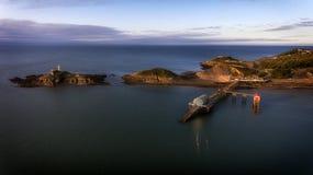 Mumbles Pier und Leuchtturm lizenzfreies stockfoto