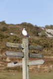 Mumbles signpost Royalty Free Stock Photos