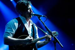Mumford and Sons in Concert Stock Photos