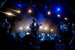 Mumford and Sons in Concert Royalty Free Stock Images