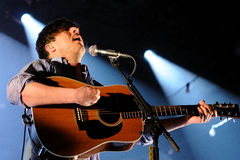 Mumford and Sons, famous band, performs at Sant Jordi Clu Stock Images