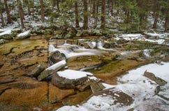 Mumlava river with cascade, Czech Republic Stock Image