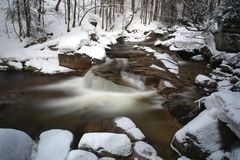 Mumlava rzeka, Krkonose góry, republika czech Obrazy Royalty Free