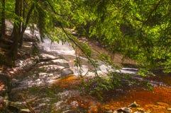 Mumlava vattenfall Arkivbild