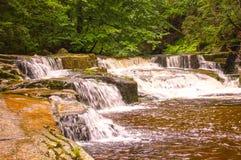 Mumlava waterfall. Czech, Karkonose mountains Stock Photos