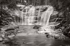 Mumlava waterfall, Giant Mountains,Czech Republic Stock Photo