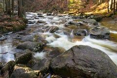 Mumlava Waterfall. Harrachov, Czech Republic Stock Image