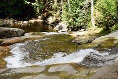 Mumlava Waterfall in Krkonoše mountains. Bottom part of Mumlava Waterfall in Krkonoše mountains in Czech republic Royalty Free Stock Photos