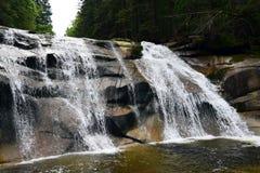 Mumlava Waterfall in Krkonoše mountains. In Czech republic near Harrachov Stock Photos