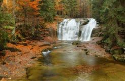 Mumlava waterfall in Krkonose Stock Photography