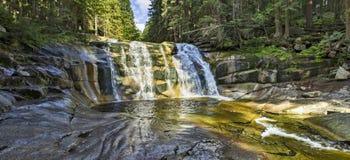 Mumlava waterfalls Royalty Free Stock Images