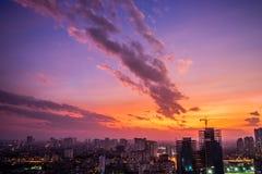 Mummel Noi Cityscape - materielbild Royaltyfria Bilder