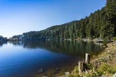 Mummelsee - Baden Wuerttemberg, Duitsland stock fotografie
