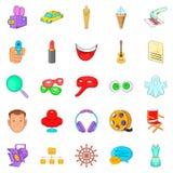 Mummer icons set, cartoon style. Mummer icons set. Cartoon set of 25 mummer vector icons for web isolated on white background Stock Images