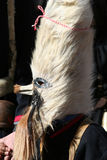 Mummer mask and costume. Mummer masks from Bulgaria. Mummers are creatures who chase away evil and help people start the year healthy. This is pagan reserved to Stock Images