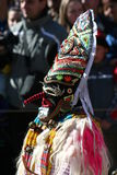 Mummer mask and costume. Mummer masks from Bulgaria. Mummers are creatures who chase away evil and help people start the year healthy. This is pagan reserved to Royalty Free Stock Photography