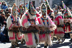 Mummer mask and costume Stock Images