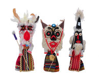 Mummers dolls with masks. Against evil forces Stock Image