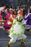 Mummers paraderen Philadelphia stock foto's