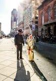 Mummers ståtar 2015 royaltyfri fotografi