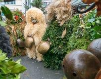Mummers &#x28 do ano novo; Silvesterchlausen) em Urnasch, Appenzell Imagem de Stock