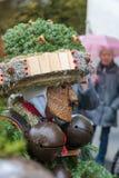 Mummers &#x28 för nytt år; Silvesterchlausen) i Urnasch Appenzell Fotografering för Bildbyråer