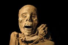 Mummia antica peruviana del inca Immagini Stock