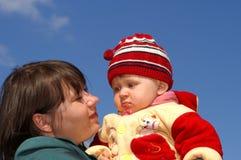Mummia con il bambino Fotografie Stock Libere da Diritti