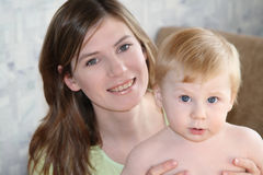 Mummia con il bambino Fotografia Stock