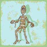 Mummia del fumetto di Halloween, icona di vettore Fotografie Stock Libere da Diritti
