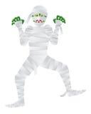 Mummia di Halloween con l'illustrazione delle dita verdi Immagine Stock Libera da Diritti