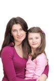 Mummia e figlia Immagini Stock Libere da Diritti